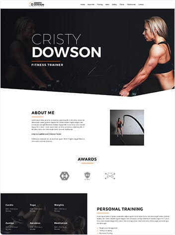 Fitness trainer screenshot