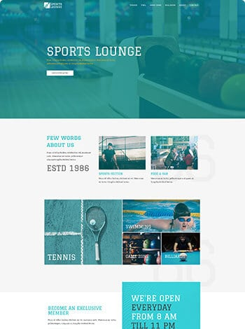 Sports lounge screenshot
